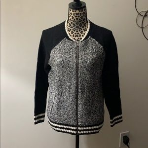 New American Eagle gray and black sweater jacket